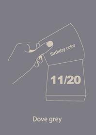 ธีมไลน์ สีวันเกิด 20 พฤศจิกายน