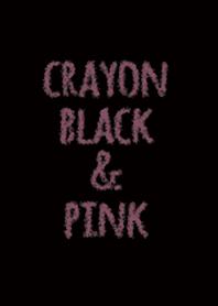 Crayon black & pink - circle