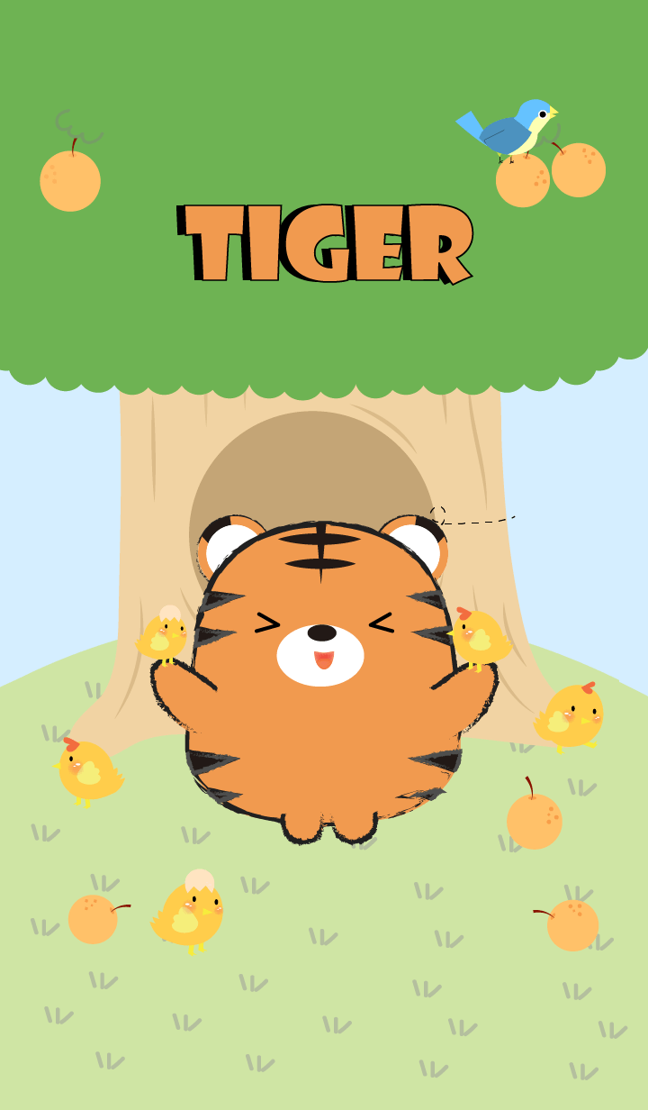 Tiger With Tree Theme (jp)