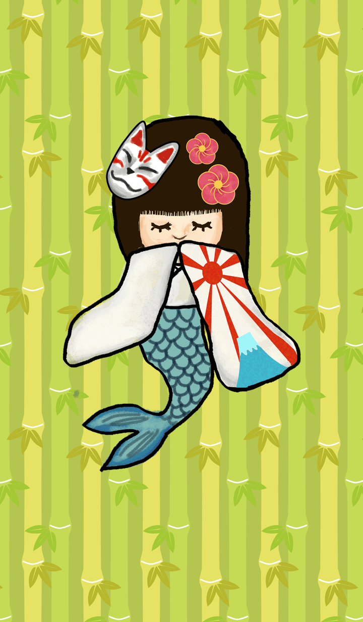 Mermaid Who Like Japanese Style