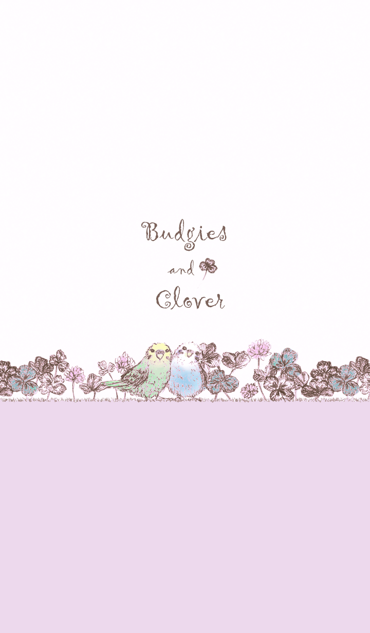 Budgies and Clover/Purple17