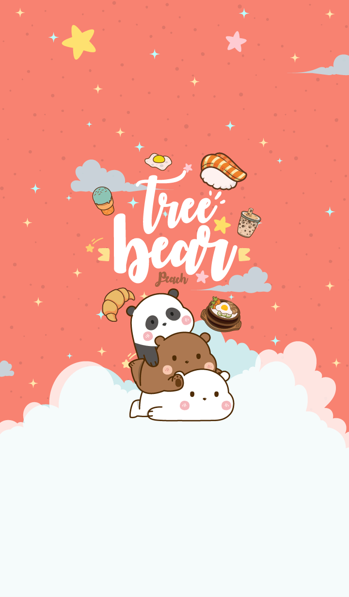 Bear Love Eating Peach