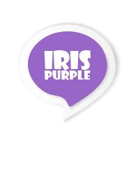 Iris Purple Button In White V.3 (JP)