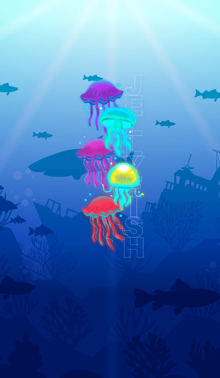 Cute Colorful Jellyfish