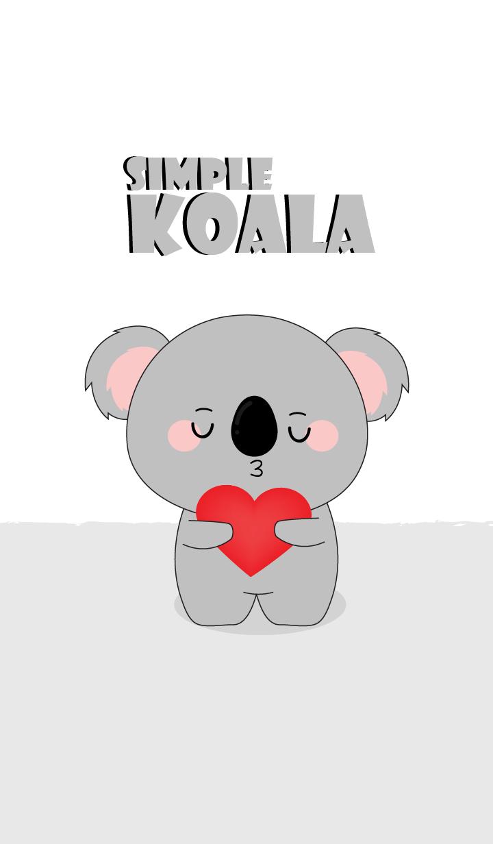 Simple Love Cute Koala