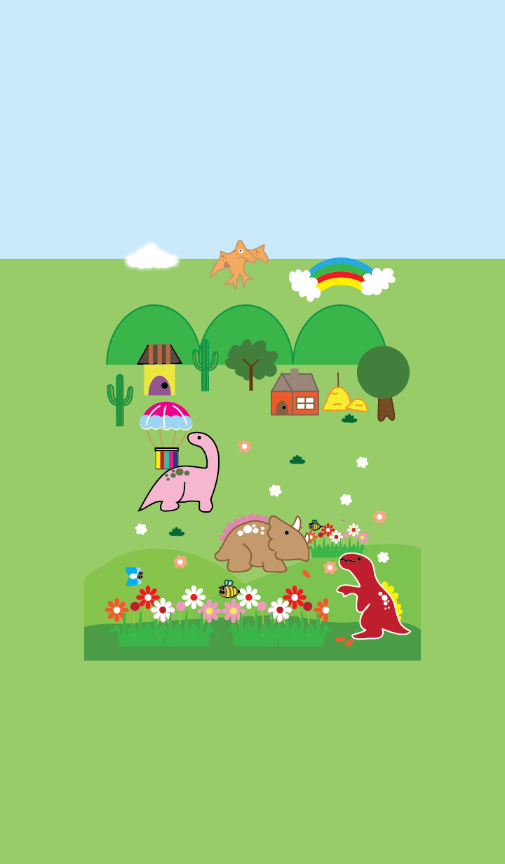 Dinosaurs and nature