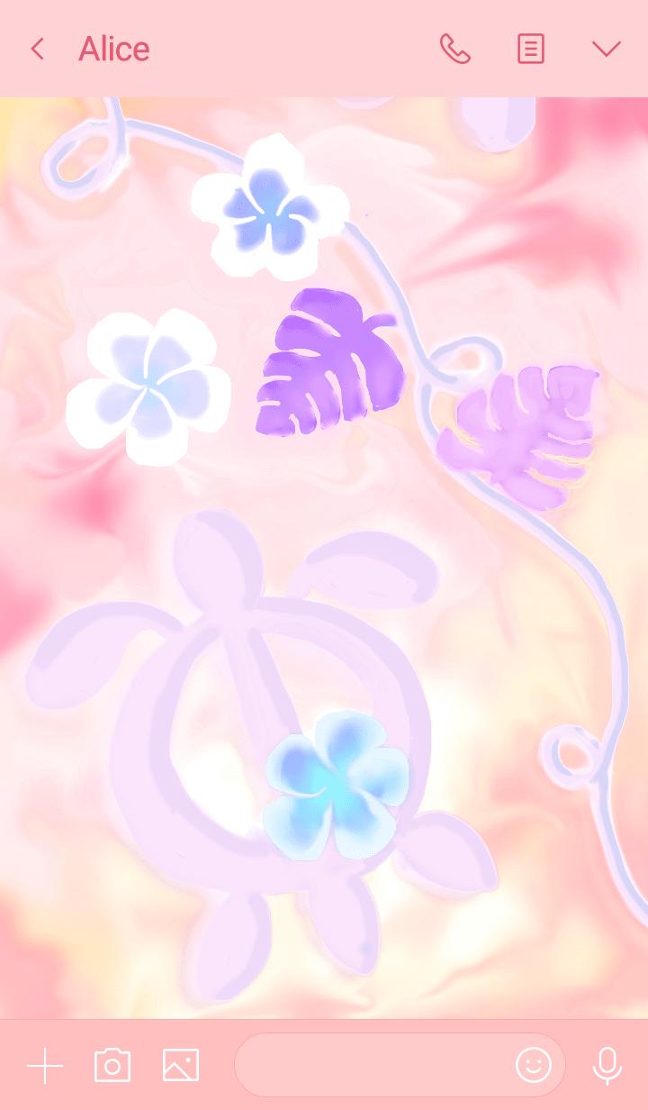 Hawaiian Islands Theme Pink Version
