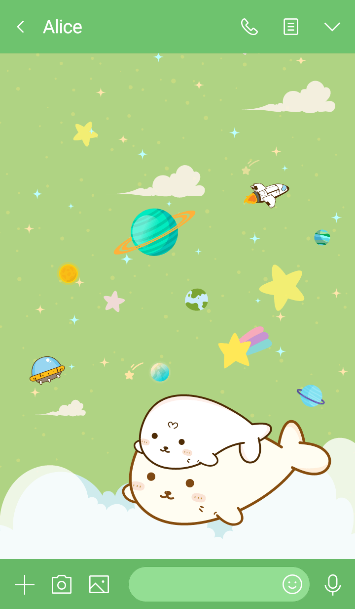 Seal Cutie Galaxy Green