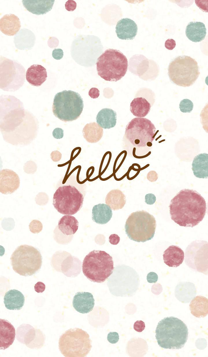 Watercolor Polka dot6 - smile23-