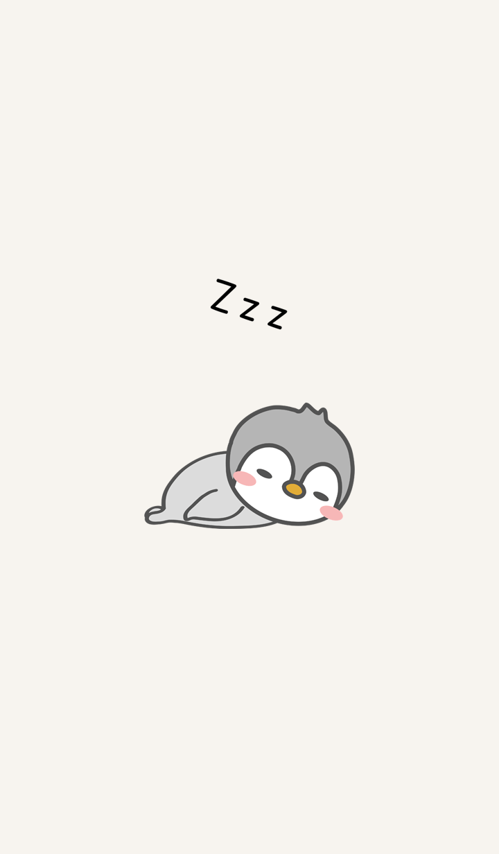 Rest sleeping penguin