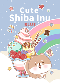 糖果聖代 寶貝柴犬 藍色