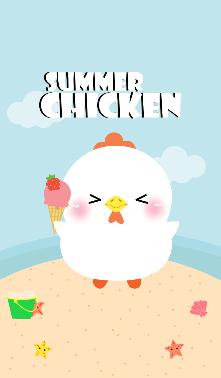 Summer White Chicken Theme