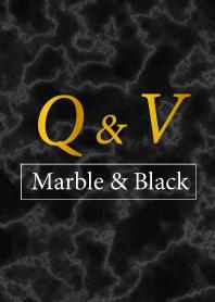 Q&V-Marble&Black-Initial