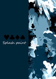 Splash paint -Military blue-