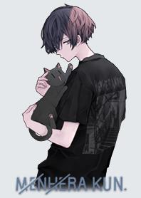 Menhera-kun. walk with a cat