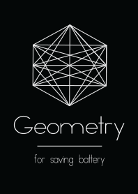 Geometry Black Theme for saving battery