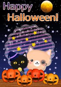 Theme of Halloween Tortoiseshell cat