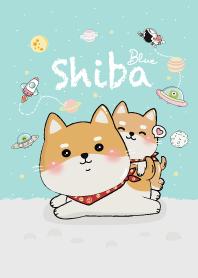 Shiba on Space! (Blue)
