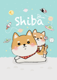 Shiba on Space! (Blue)