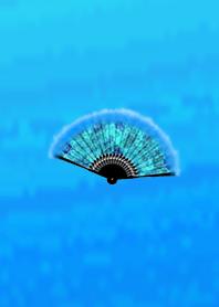 Fan blue used by adults