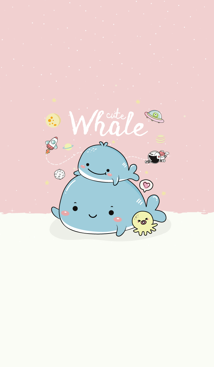Whale Cute Pink