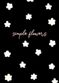 small flower pattern-black pink-