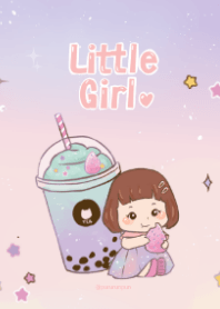 Little Girl and her Bubble Tea