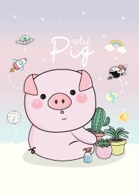 Pig Love Cactus Pastel.