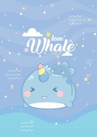 Whale Unicorn Undersea Blue
