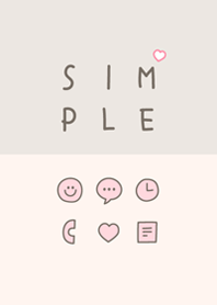 Girly SIMPLE / ivory-pink.