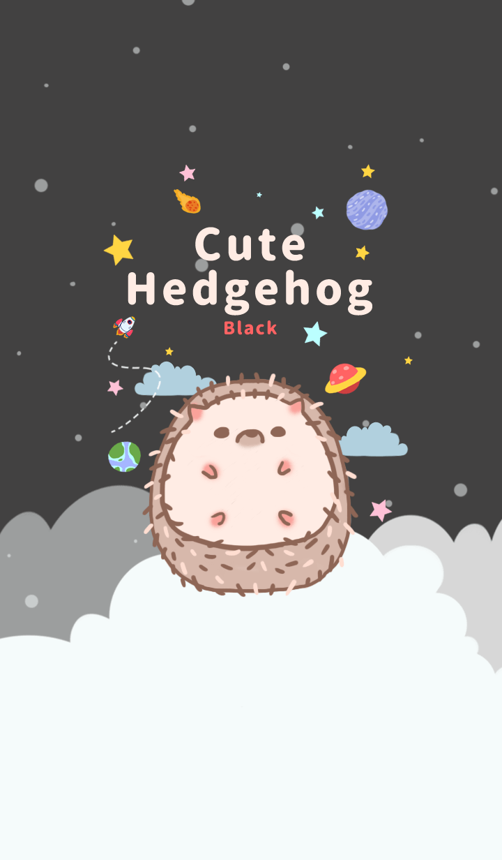 misty cat-Cute Hedgehog black