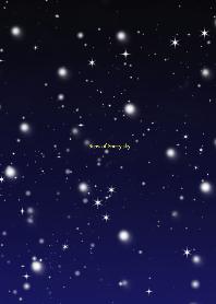 Snow of Starry sky.