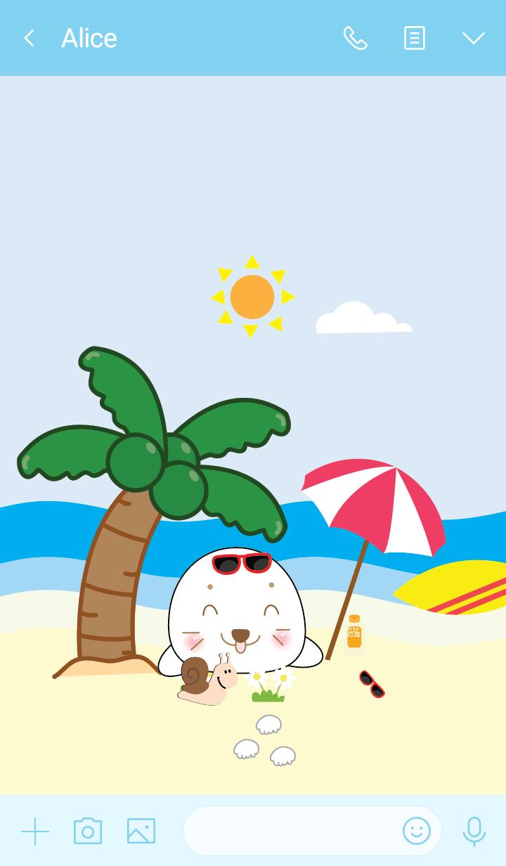 Simple sea seal theme (JP)