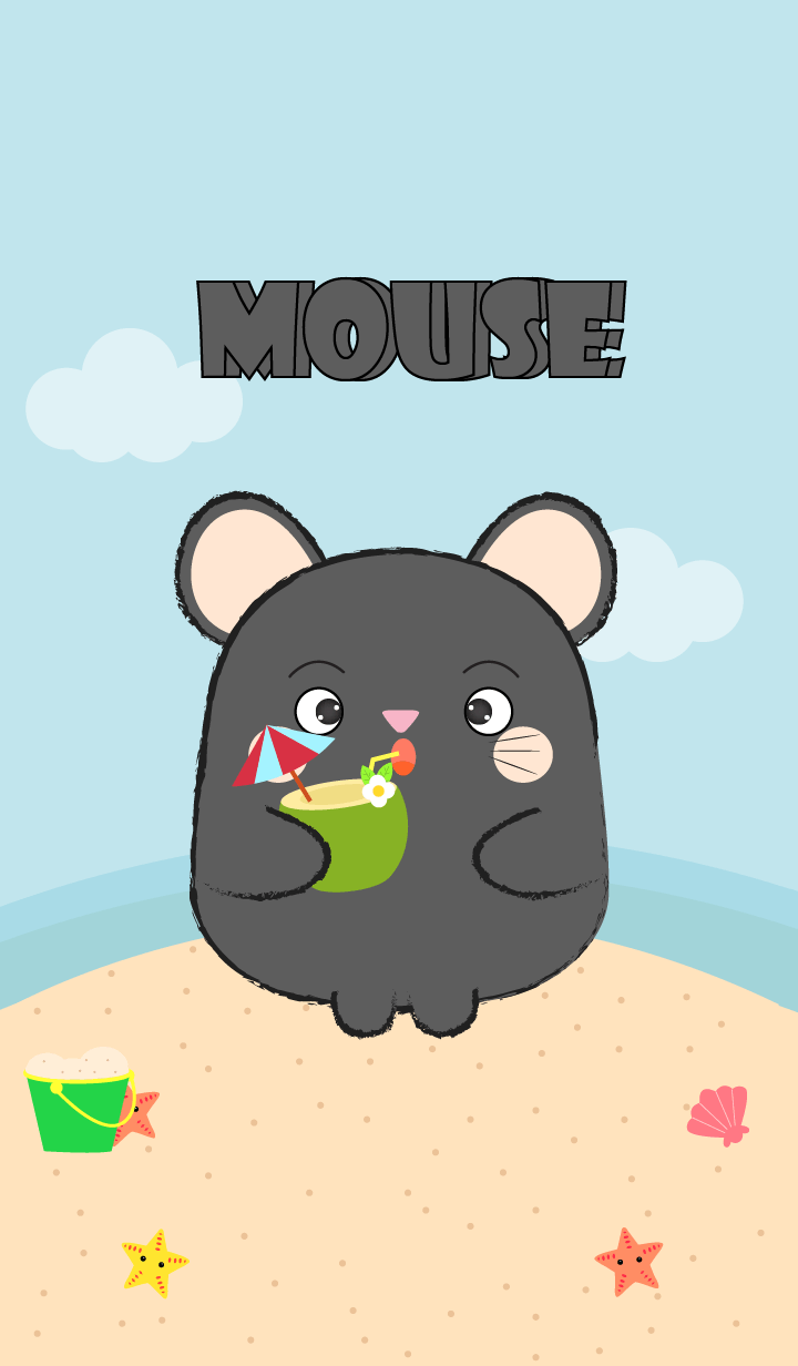 Summer Fat Black Mouse theme