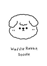 waffle rabbit doodle