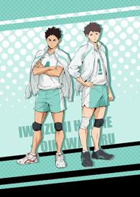 Aobajohsai Oikawa&Iwaizumi