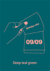 Birthday color September 9 simple
