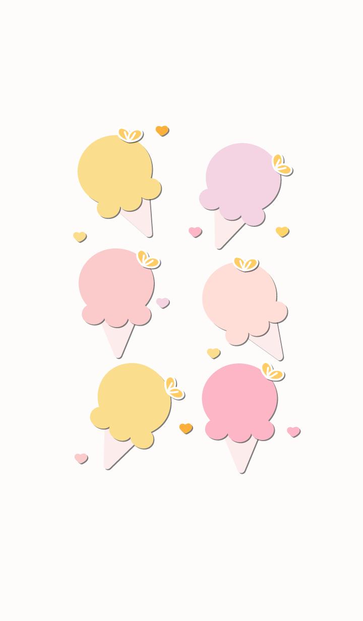 Cute ice-cream theme 57