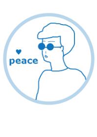 PEACE BOY 17/blue