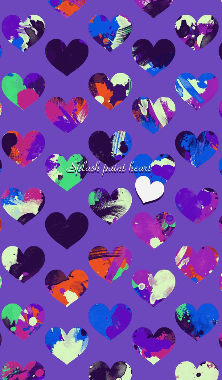 Splash paint heart -Purple-
