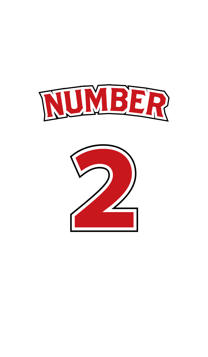 Number 2 White x Red version