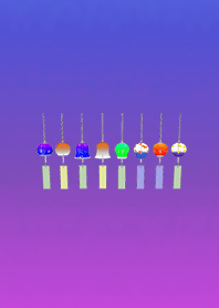 Summer wind chimes blue purple