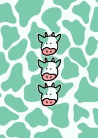 Animal pattern cow&green