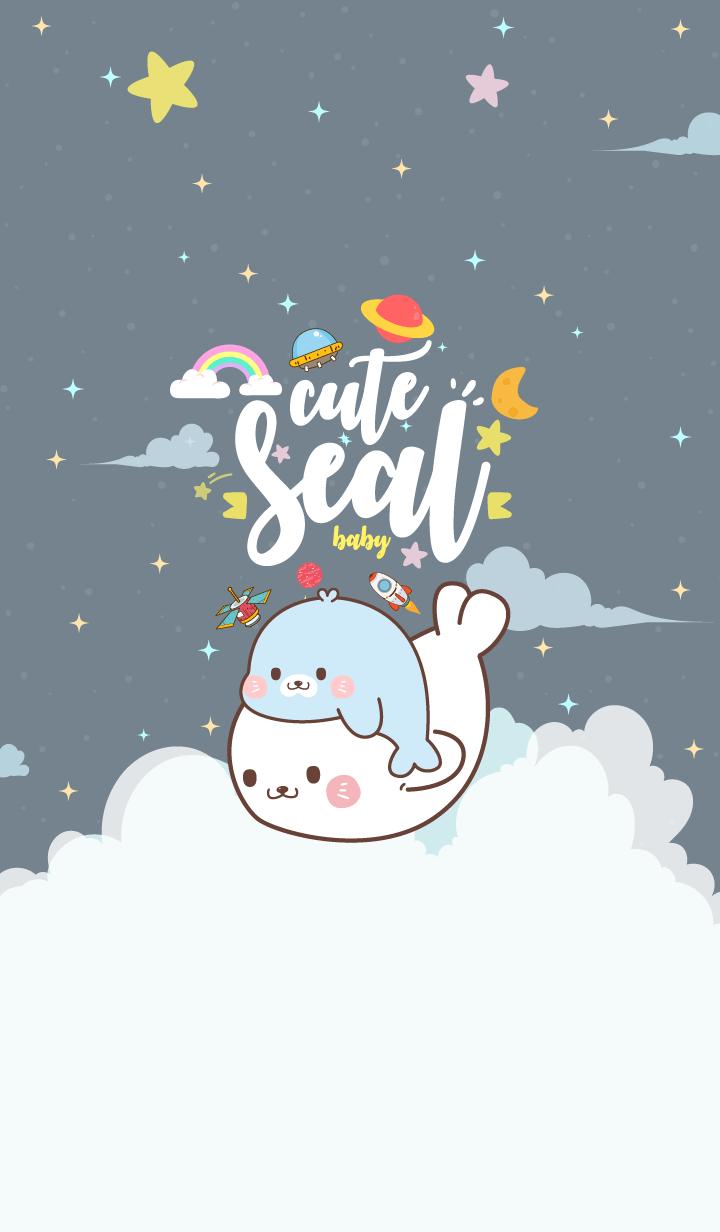 Seal Baby Galaxy Gray