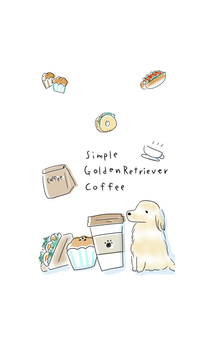 簡單的 金毛尋回犬 咖啡