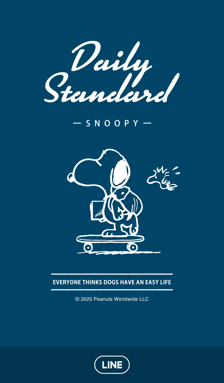 Snoopy Daily Standard (Navy)