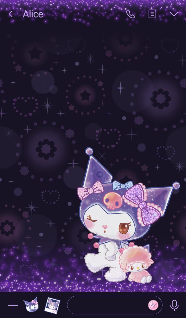 Kuromi Glitter Doll