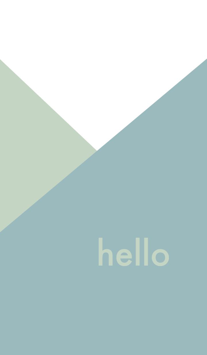 hello - ブルー&ベージュ