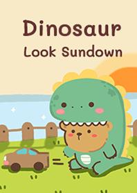 Dinosaur & sundown