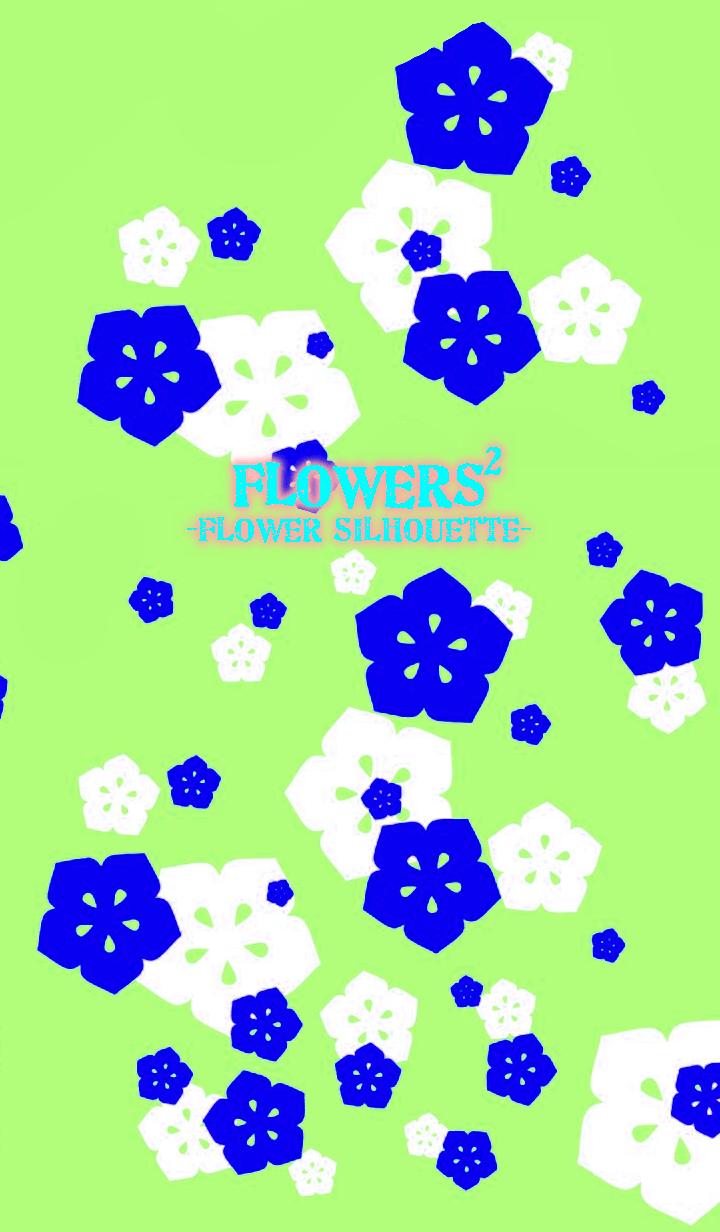 FLOWERS2-Flower silhouette-Mint Green